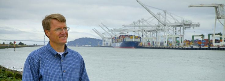 Sandia National Laboratories researcher Joe Pratt stands near the Port of Oakland, one of the west coast ports he studied to learn whether hydrogen fuel cells are a viable power source for docked ships. (Photo by Steffan Schulz) #fuelcell #hydrogen #seaport