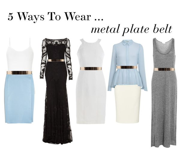 The gold metal belt is the new must-have accessory - Here are 5 ways to wear it