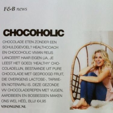 Viv's chocolade in Talkies Vivonline Viv Online