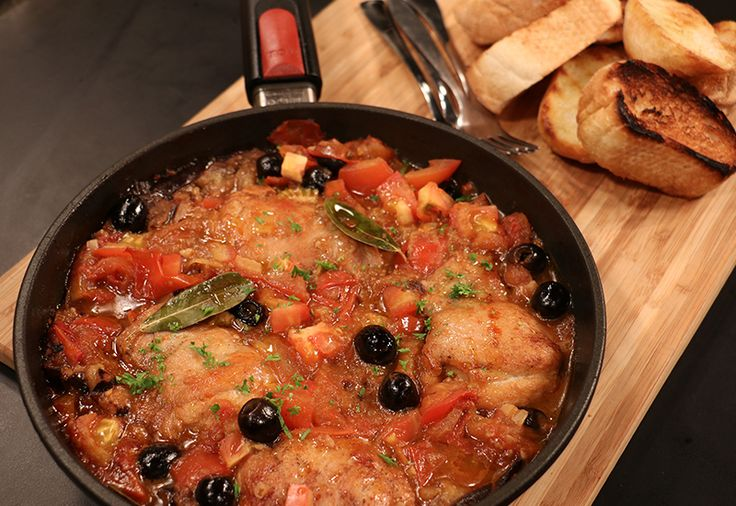 Ingredients: 1 Aubergine, sliced 1cm thick lengthways Balsamic vinegar 8 Boneless chicken thighs, skinless 4 cloves Garlic 1 tsp Brown sugar 1 Lemon, freshly zested and juiced ½ cup Black olives 4 Tomatoes, large and ripe, cut into quarters 300ml chicken stock 2 bay leaves Crusty bread  Method: Preheat oven to 180C Color the ...