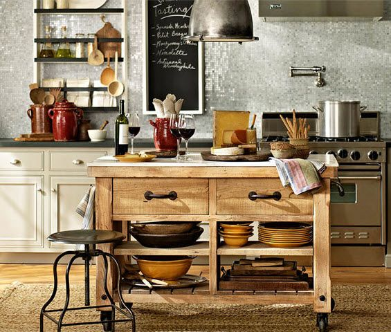 A delightful blend of industrial and rustic. #potterybarn