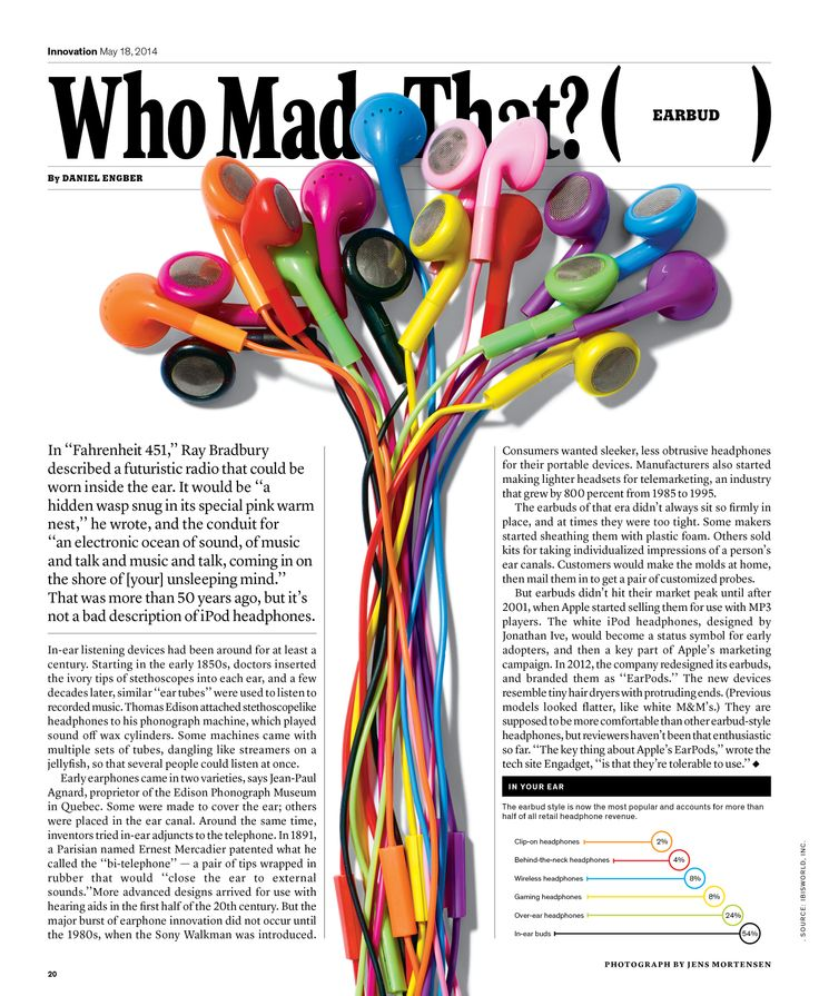Who Made That? Earbud Designer: Raul Aguila The New York Times Magazine