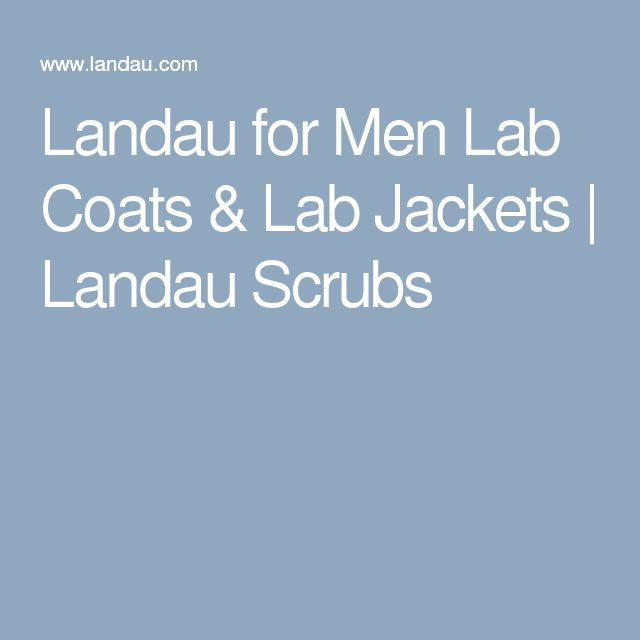 Landau for Men Lab Coats & Lab Jackets | Landau Scrubs