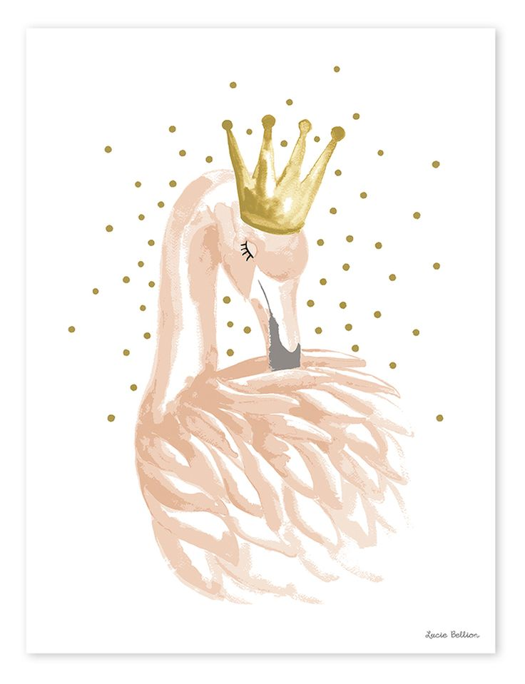 Lilipinso Kinderzimmer-Poster 'Flamingo' gold/puderrosa 30x40cm bei Fantasyroom online kaufen