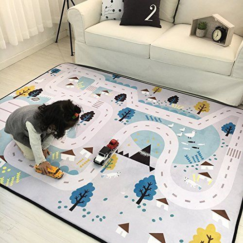 Iheartyou Small Village Thick Foam Play Mat Non Slip Non Toxic Baby Crawling Mat Creeping Mat Kids Activity Mat Baby Rug Kids Rugs Childrens Play Mat Baby Rugs
