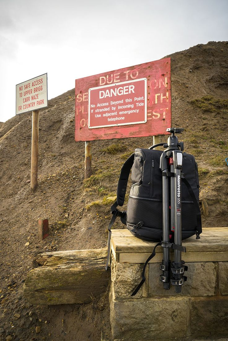 """With all these potential hazards then, we need to know that our kit is going to be protected for those precarious walks and #climbs in between taking the shots. I spent a couple of days in #Filey on the rugged #Yorkshire coast with the #Manfrotto Advanced Tri #Backpack to protect my #kit."""