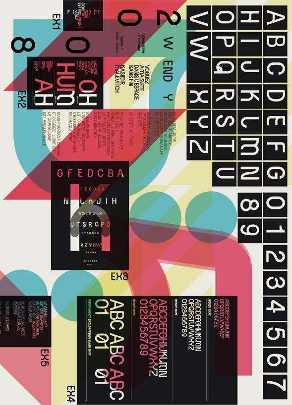 Planche de typographie : Wendy