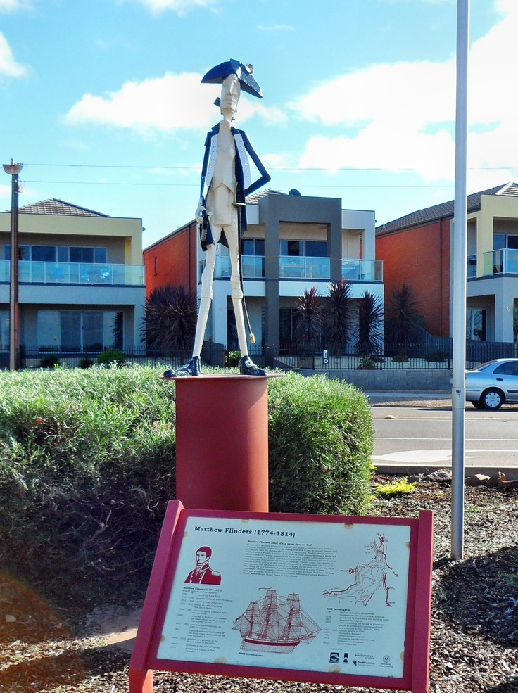 Australian explorer, Matthew Flinders memorial, Whyalla, South Australia