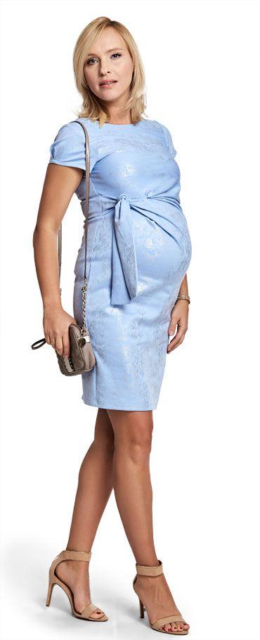 Happy mum - Maternity wear & fashion, dresses, Metallic blue dress SALE!.