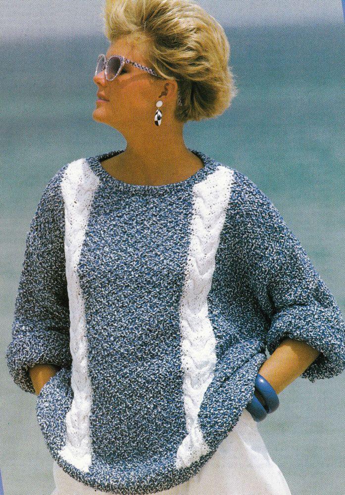 Vintage Knitting Pattern Instructions to Make a Ladies Spring Summer Jumper