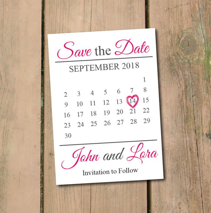ON SALE Save The Date Calendar Template\/Save The Date Postcard   Engagement  Card  Engagement Card Template