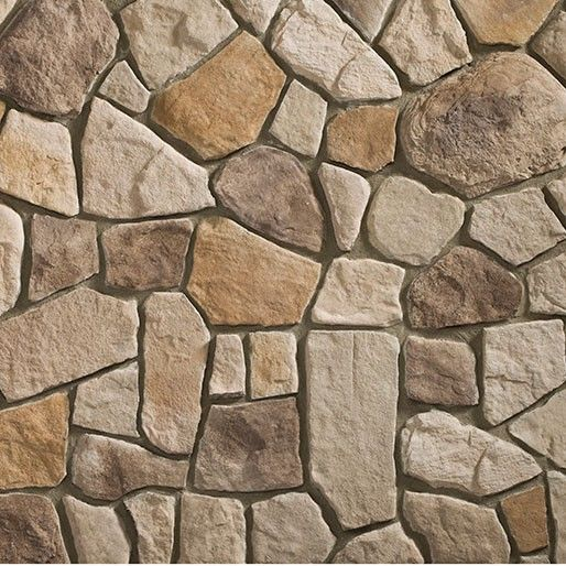 heritage top rock fieldstone flats fake wall stone