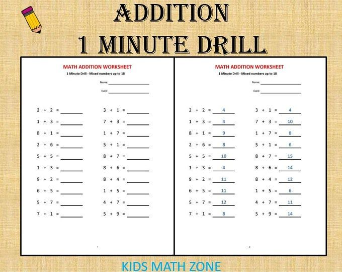 Grade 1 Math Workbook One Per Day 120 Math Worksheets Basic