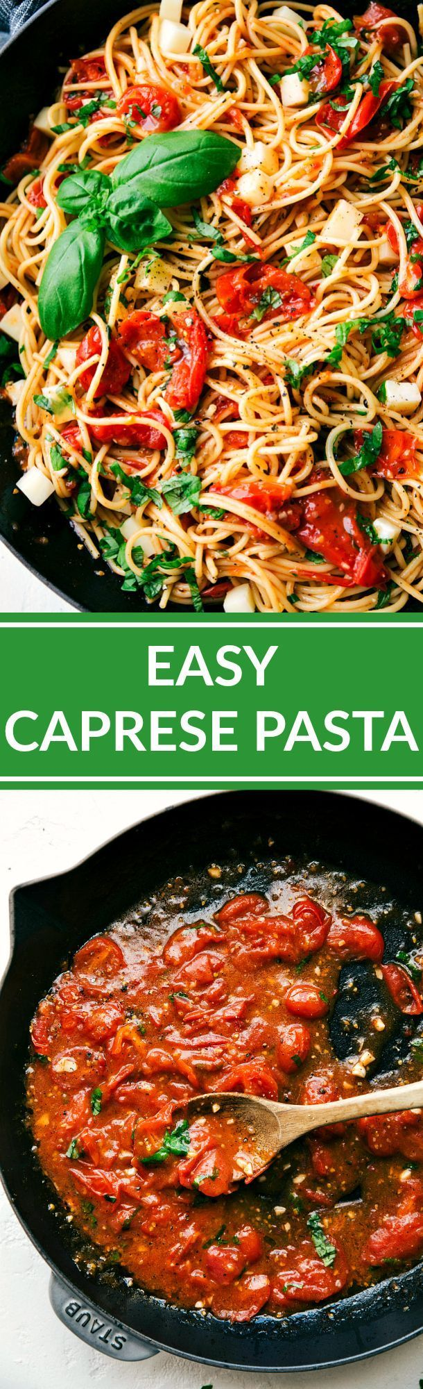 cool Easy CAPRESE PASTA -- so quick and amazingly delicious! Angel hair pasta tossed ...by http://dezdemon99-recipesations.gdn