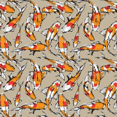 16 best images about fabrics i love on pinterest scarlet for Koi fish print fabric