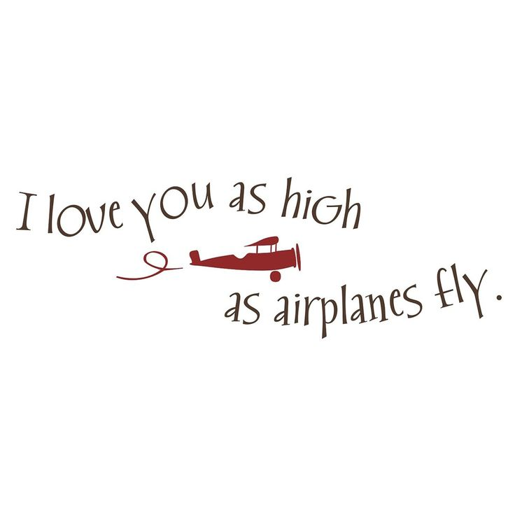 Vinyl Attraction 'I love you as high as airplanes fly' Vinyl Decal   Overstock.com