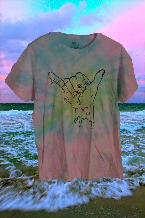 CUSTOM DYED melting hang loose shirt by STRUNGGOUTT on Etsy, $20.00