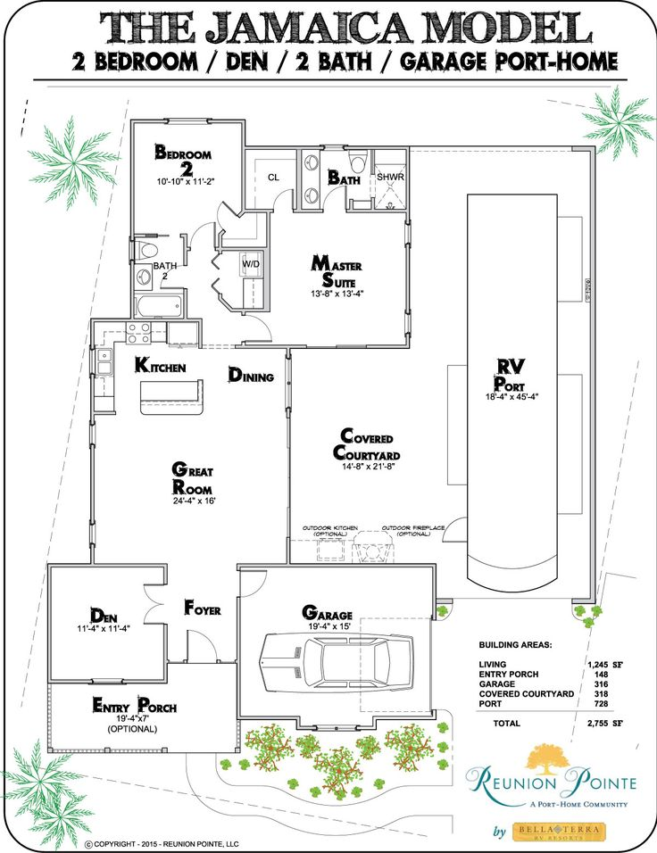 Rv carriage house plans house plan 2017 for Carriage rv floor plans