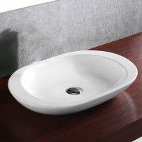 OVALE 59cm White Ceramic basin