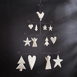 Handcrafted Clay Angels And Stars Wall Hanging