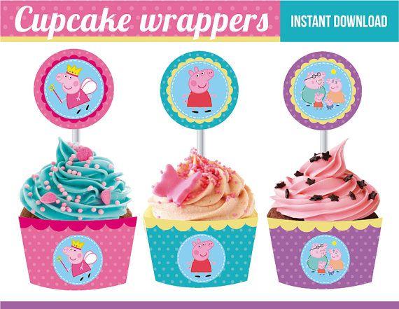 He encontrado este interesante anuncio de Etsy en https://www.etsy.com/es/listing/190668210/peppa-pig-cupcake-wrappers-and-toppers