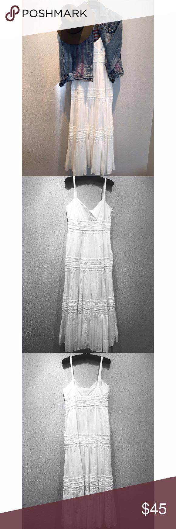 Ralph Lauren Cotton Maxi Dress Ralph Lauren White Cotton Maxi Dress with bohemian details. Ralph Lauren Dresses Maxi