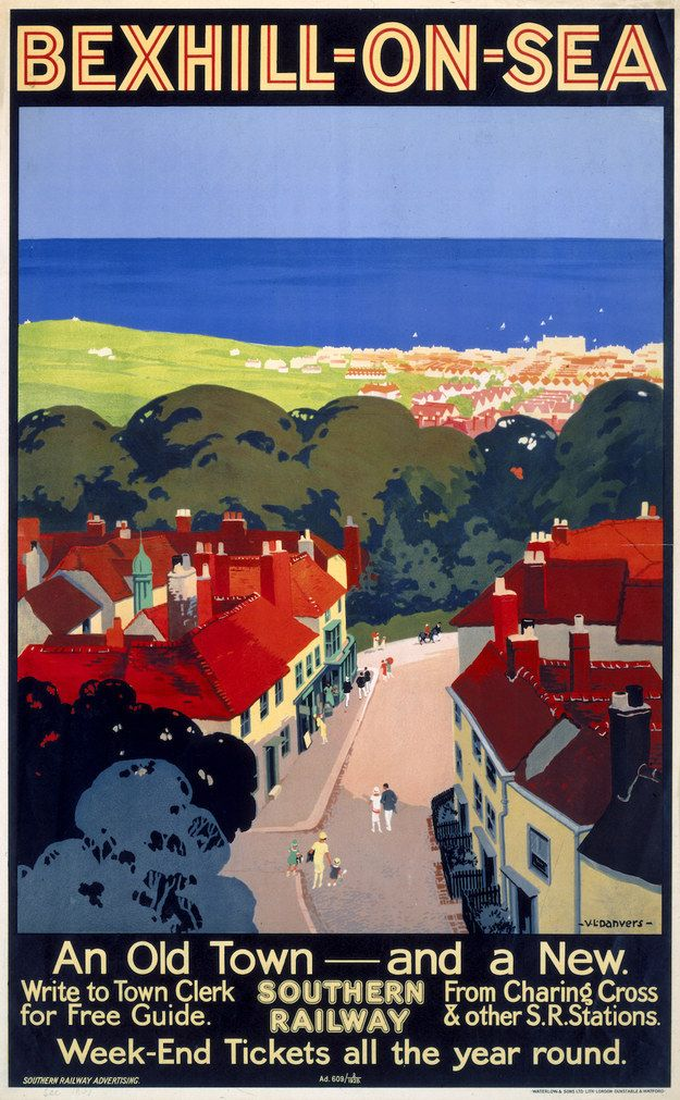 Bexhill-on-Sea, Southern Railway, 1928   15 Vintage British Rail Posters That Will Give You Wanderlust