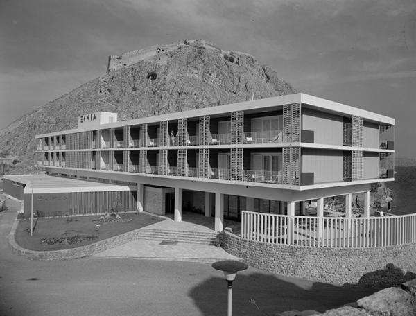 1960 Xenia Hotel, Nafplio   Ioannis Triantafyllidis Source: Photographic Archives of Benaki Museum
