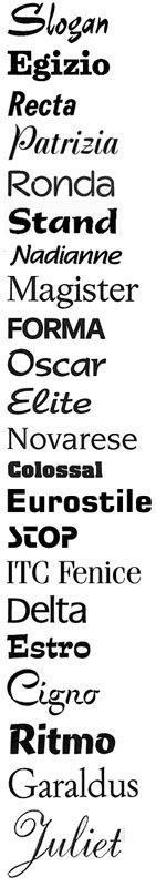 Omaggio ad Aldo Novarese - font