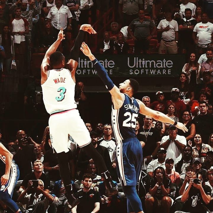 Dwyane Wade scored 27 points a season-high in Miamis 102101 win over the 76ers on Tuesday. Its the third-most points that Wade has scored in a one-point win in a regular-season NBA game behind a 37-point game in 2008 and a 31-point performance the following year. And of course Wade scored 43 points 21 from the line in Miamis 101100 overtime win over Dallas to take a 32 lead in the 2006 NBA Finals. (Per Elias)  #pass #dribble #shoot #steal #score #stats #assist #nba #basketball #history…