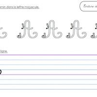 Voici un petit fichier pour l'entraînement à l'écriture des majuscules en cursive.  Format Fiche Expres ,  Attention : il y a des divergences entre les polices Maternellecolor Creuse et...