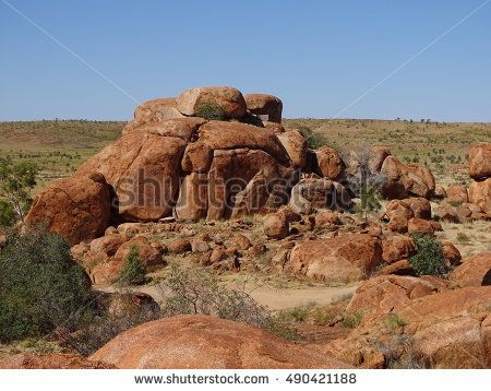 Large outcrop of rocks in Northern territory, outback of Australia
