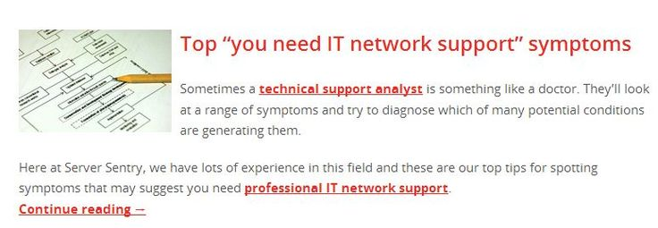 """Top """"you need IT network support"""" symptoms Read more http://www.serversentry.com.au/top-need-network-support-symptoms/"""