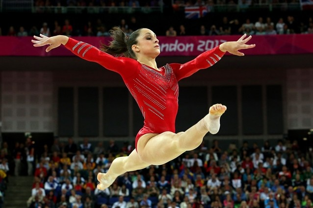 Jordyn Wieber of the United States of America performs on the floor exercise in the Artistic Gymnastics Women's Team final on Day 4.