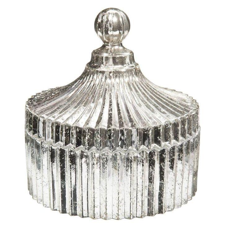Bonbonniere ARomantic aus Glas geriffelt, H 17 cm   Maisons du Monde
