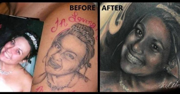 Rather than regret tattoos, some have found ways to fix them
