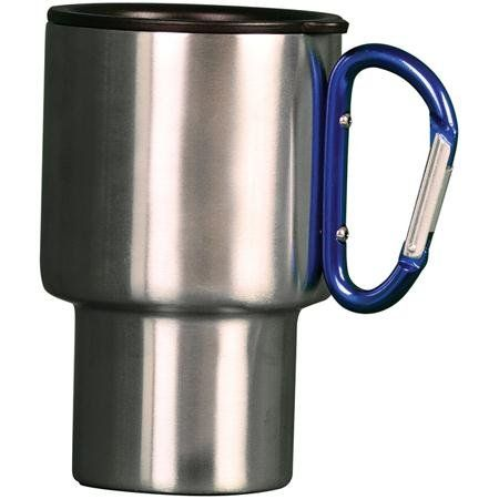 Ounce Stainless Steel Travel Mug With Carabiner