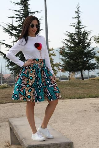 Samba African Midi Skirt