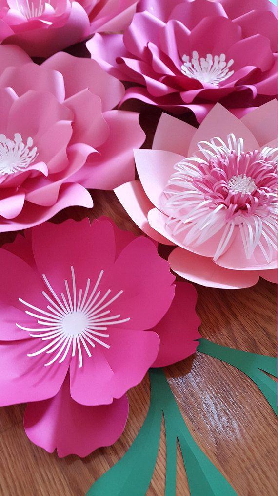 Fondo de flor de papel decoración de cuarto de niños de la