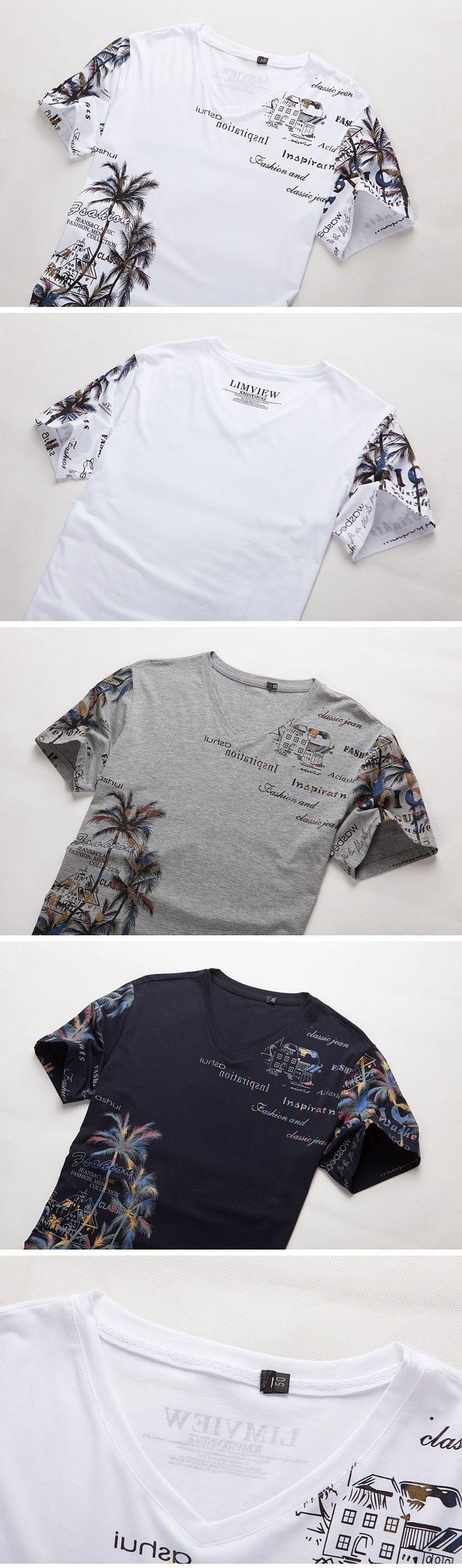 Now available at DIGDU: Cotton Men's T-sh... Check it out here! http://www.digdu.com/products/cotton-mens-t-shirt-v-neck-fashion-slim-short-sleeve-t-shirt-casual-men-holiday-beach-style-summer-print-t-shirt-top-4xl-5xl?utm_campaign=social_autopilot&utm_source=pin&utm_medium=pin
