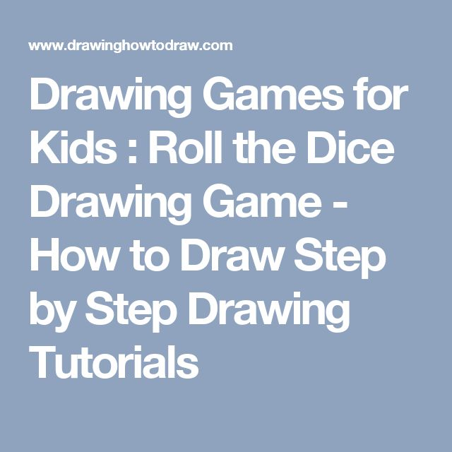 drawing games for kids roll the dice drawing game how to draw step by - Drawing Games For Toddlers