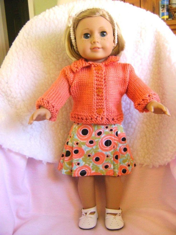 Doll clothes/ HANDMADE Skirt/Sweater Set /Fits American Girl Dolls #americangirldoll