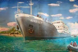 Dernier Voyage des Chagossians & bord du Nordver enrade Diego Garcia, 1973 courtesy the artist, Clement Siatous.