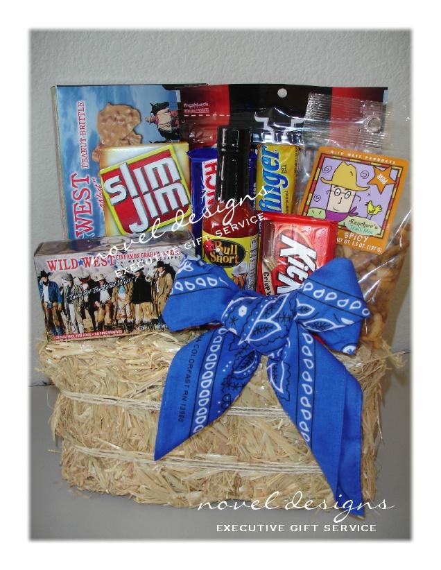 custom wild west cowboy gift basket