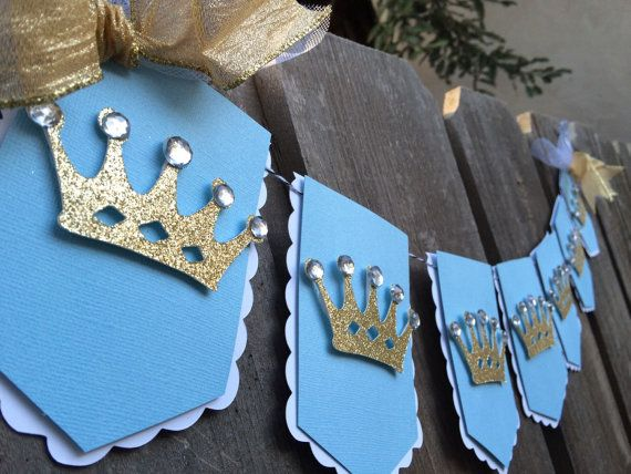 Little Prince royal flag banner light blue and by glittermama