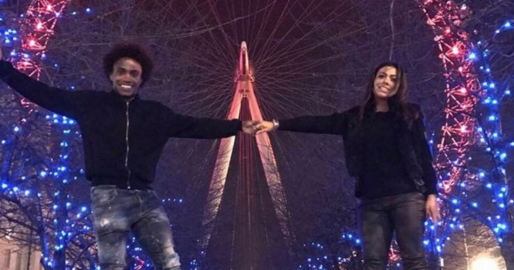 Willian enjoyed a bit of time with his one and only on Tuesday night - 24 hours on from Chelsea's win over Manchester United