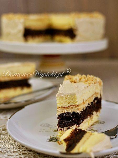 Tort serowo- czekoladowy z masłem orzechowym