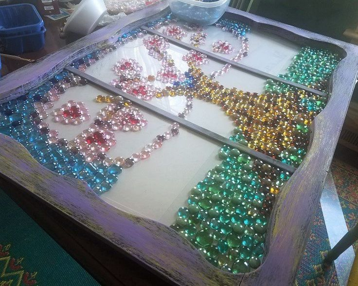 You might want to grab some Dollar Store gems when you see this sparkling gem window idea!