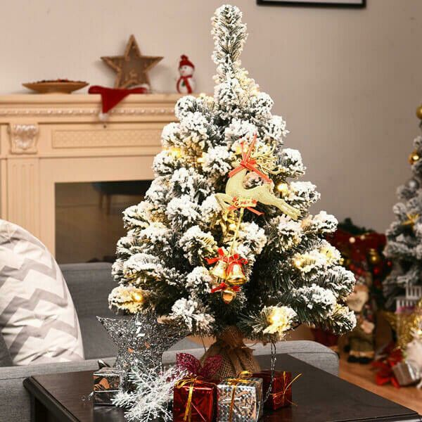 41++ Flocked tabletop christmas tree trends