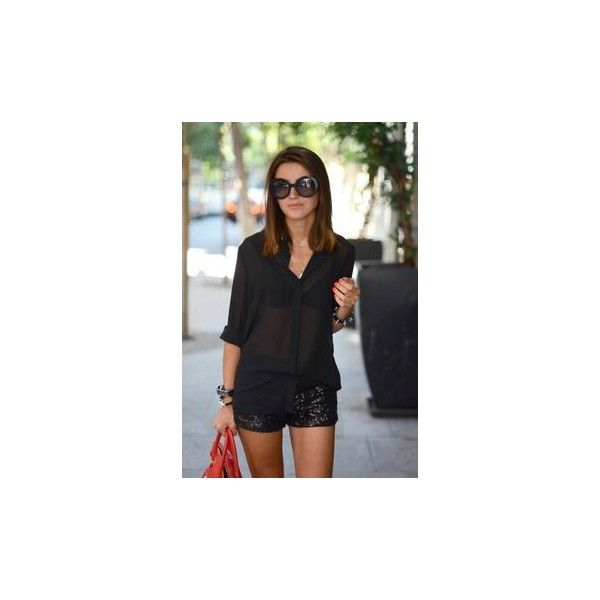 Sheer Blouse via Polyvore featuring tops, blouses, sheer blouses, see through blouse, see through tops, sheer top and transparent top